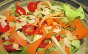 Fermented parsnip salad.