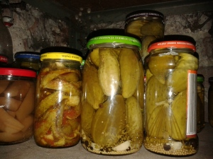 fermented food in a cellar