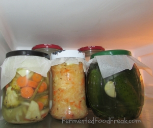 Fermented Veg in fridge